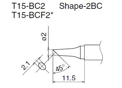 T15-BC2 soldering tip