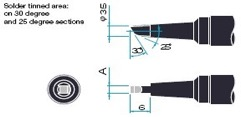 Japan unix soldering tip P120BCPC/P130BCPC