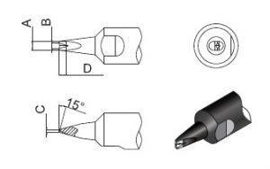 Quick Soldering Robot Tip 911G-DV1